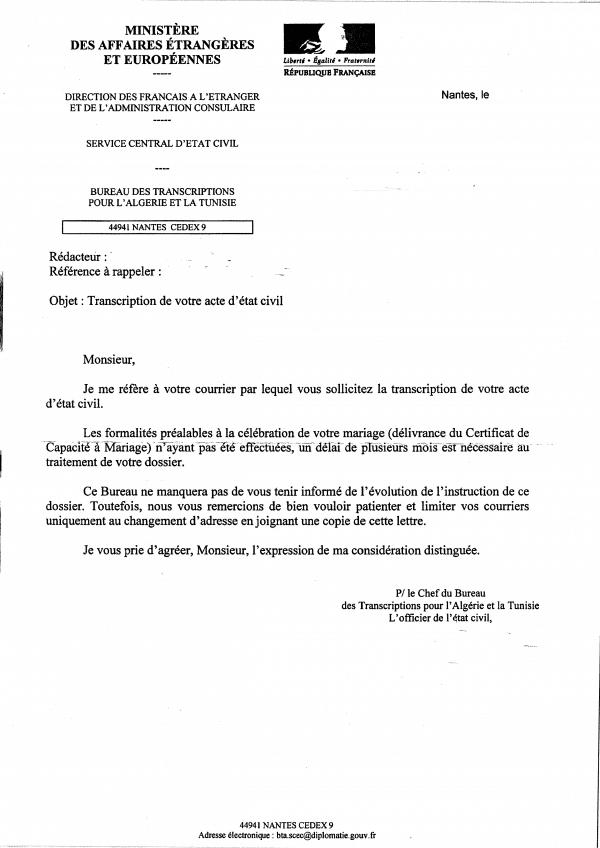La Transcription Du Mariage Avocat à Nantes