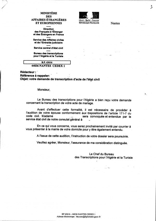 La Transcription Du Mariage Avocats A Nantes